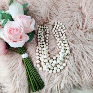 KATE SPADE chunky multi strand beaded necklace